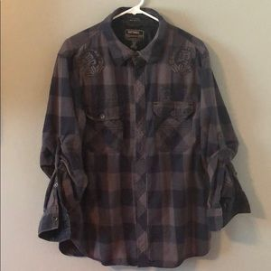Men's Flannel Long Sleeve Button Down Shirt